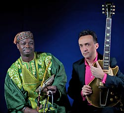 Juldeh Camara & Justin Adams, photo by York Tillyer 2009 Real World Records Ltd.