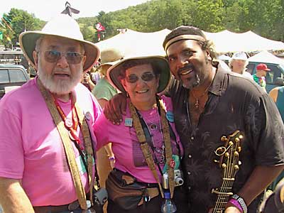 Vic & Reba Heyman with Tom Prasada-Rao; photo by Neale Eckstein